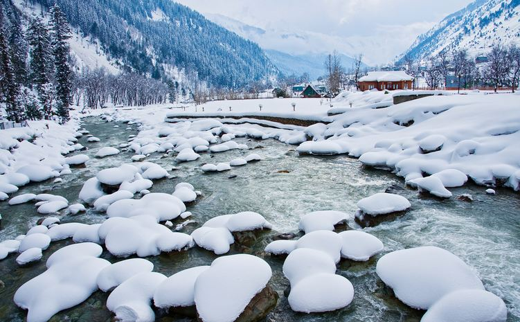 Kashmir Valley In Winter