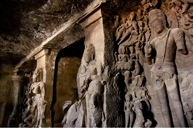 Statues In Elephanta Caves, Mumbai
